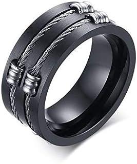 Ring Unisex Black Titanium Size 12