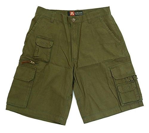 Kakadu Traders Australia robuste Outdoor Herren Cargo Shorts, kurze Hose mit vielen Taschen und Extras in braun, blau und beige
