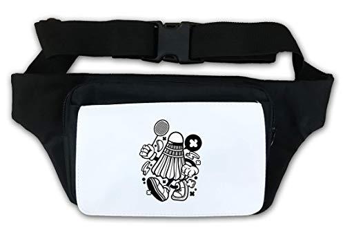 Cartoon stijl Badminton Shuttlecock Logo taille tas