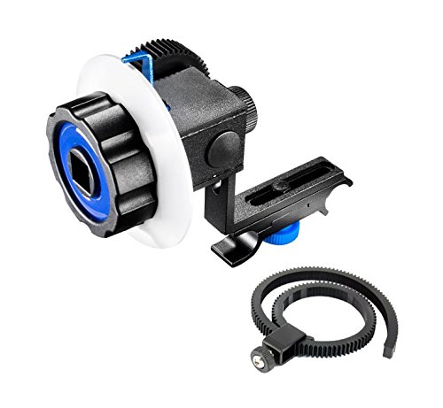 Morros DSLR Follow Focus with Gear Ring Belt for DSLR Cameras and Camcorders