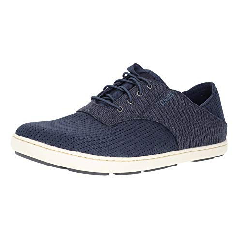 OLUKAI Nohea Moku Men's Boat Shoes, No Tie Laces & Stretch Construction, Lightweight & Breathable Mesh, Comfort Fit & All Weather Rubber Soles