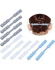شريط قناع التمديد، 8 قطع قناع قابل للتعديل شريط الأذن خطاف للأقنعة المضادة للانزلاق مشبك تمديد سيليكون للبالغين والأطفال, 10 PCS