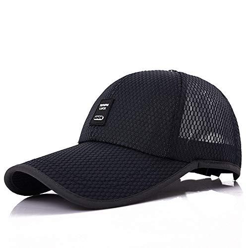 DRDP Unisex Sports Ninguna Men Women Casual Cap For Fishing Outdoor Baseball Cap Long Visor Summer Mesh Hat Sunshade Breathable Jefe 54cm-62cm Black