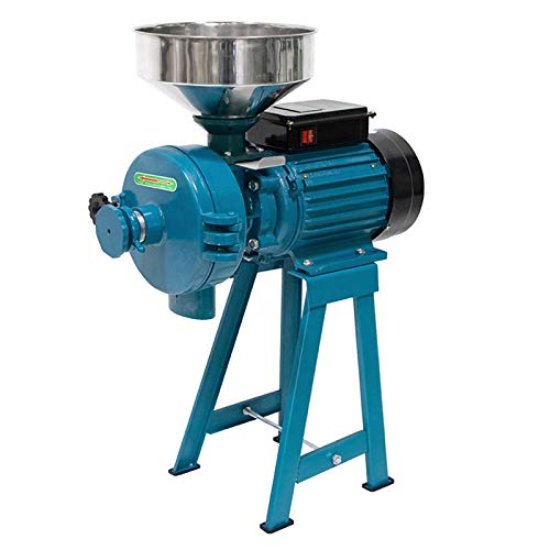 Grain Mills, Upgraded 3000W Wet Dry Cereals Grinder Electric Grain Grinder Corn Mill Heavy Duty 110V Commercial Grain Grinder Machine Rice Corn Grain Coffee Wheat Feed Mill Flour Mill with Funnel