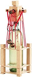 Playtastic Weinpuzzle: Flaschen-Puzzle Siena aus stabilem Echtholz (Weinflaschen Puzzle)