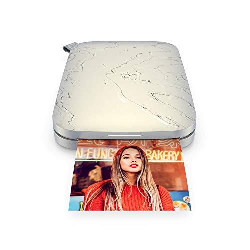 HP Sprocket Portable 5.8x8.7 cm Sofortbilddrucker (Weiß) Drucken Sie Bilder auf Zink Sticky-Backed Paper von Ihrem iOS- und Android-Gerät