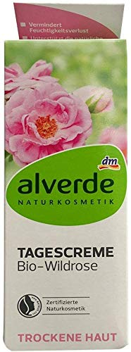 alverde NATURKOSMETIK Tagescreme Bio-Wildrose, 50 ml vegan/Ohne Nanopartikel