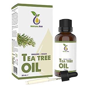 Aceite Arbol de Te Puro 50ml con pipeta - 100% BIO orgánico para cara y cuerpo - para Tratamientos de Acné y Piel Grasa