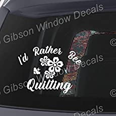 Quilting Eat Sleep Quilt Decal Car Truck Sewing Vinyl Window Decal Sticker