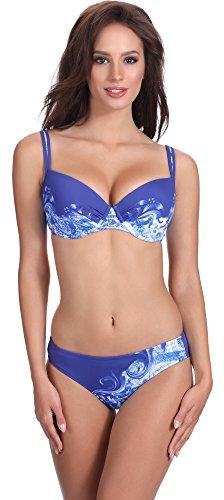 Feba Figurformender Damen Push Up Bikini D1N32L1V2RS4 (Muster-433, Cup 75 E/Unterteil 38)