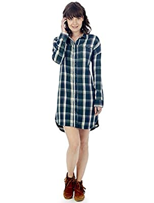 Alternative Womens Yarn-Dye Flannel Timberwood Shirtdress