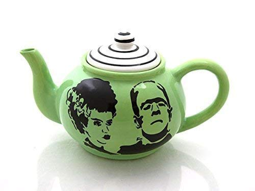 Direct stock discount Mr and Mrs Frankenstein Teapot Special sale item by Veasey Lorrie LennyMud