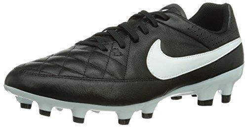 Nike Tiempo Genio Leather FG, Herren Fußballschuhe, Schwarz (Black/White), 41 EU