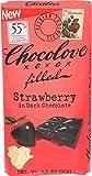 CHOCOLOVE Strawberry Filled Dark Chocolate Bar, 3.2 Ounce