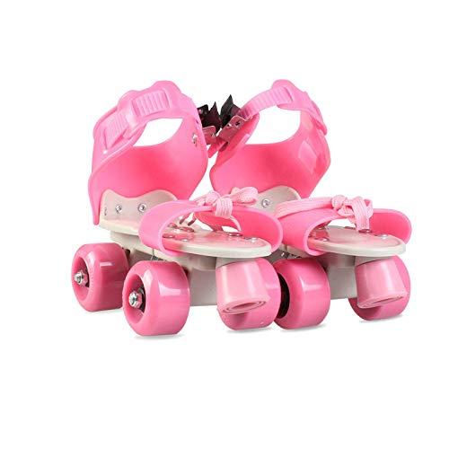 YPYGYB Roller Skates for Women, Detachable Pulley Skate, Inline Skates, Kids Roller Skates, Roller Skate Shoes,Pink-18-23cm