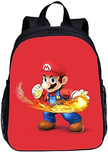 wikkeny Niños S Bag Nursery NIÑOS S Historieta Mario Mario Bolsos Súper Juego Viaje Mochila Casual Escuela Bolsas para niños Niñas