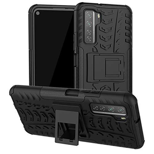 betterfon | Hülle Huawei P40 Lite 5G - Handyhülle Handy Tasche Hybrid Hülle für Huawei P40 Lite 5G Schwarz
