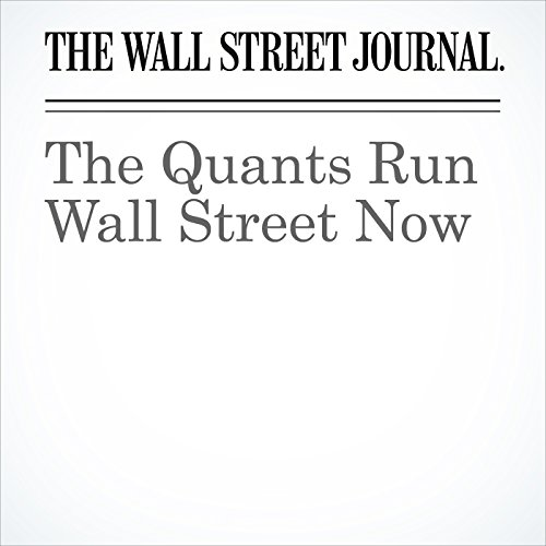 The Quants Run Wall Street Now copertina