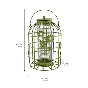 Bird Feeders Flower Cage for Gardens - Hanging wild Bird Seed Feeding Station