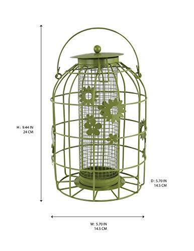 Bird Feeders Flower Cage for Gardens - Hanging wild Bird Seed Feeding Station