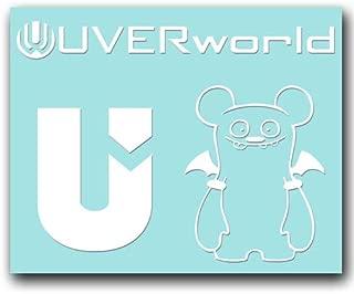絵柄だけ残る ステッカー S 「UVERworld#2」 白 060W