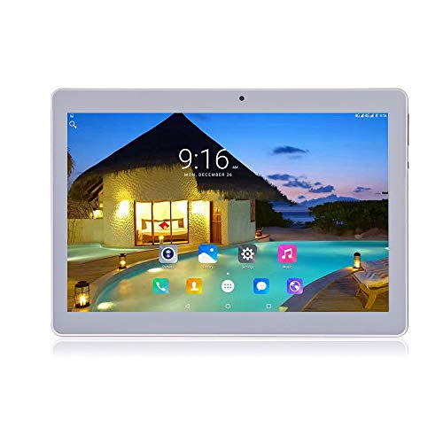 Android 9.0 Tablet 10 inch with Sim Card Slots 4GB RAM 64GB ROM Quad Core 3G Unlocked GSM Phone Tablet PC Compatible with Bluetooth WiFi GPS (Silver)