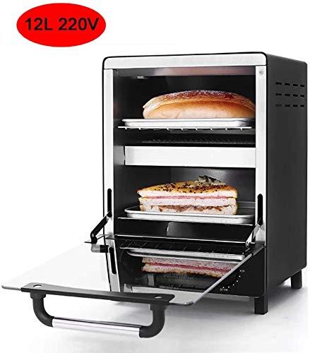 LLDKA Hogar de cocción del Horno Vertical panadería Tostadora Temporizador 12L 220V Galleta de Las Galletas Torta de la Pizza, Pan, Desayuno Hornear Pequeña máquina del Horno para