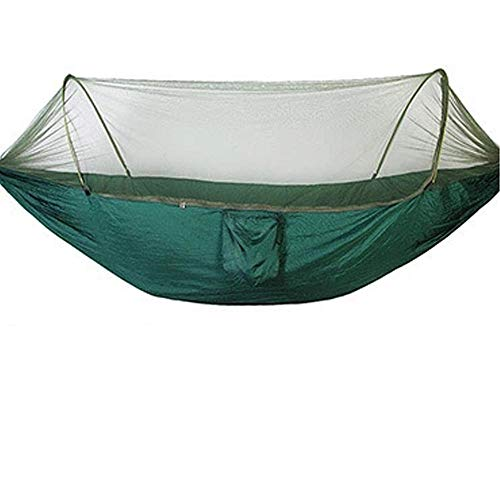 PortableDoubleHammock Tarp with Storage Bag + Strap,300kg Load Capacity (280x140cm) Green Balcony Hammock for Backpacking Camping Outdoor Travel Adventure Hiking Garden for Outdoor Hiking Backpack