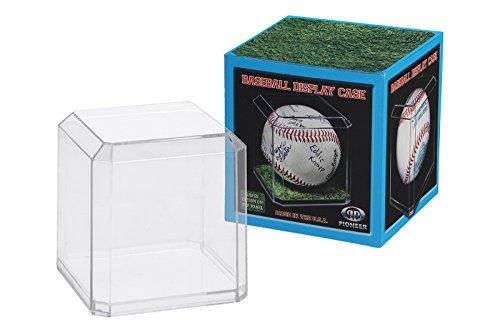 Pioneer Plastics - vetrina per la Raccolta e Lo stoccaggio di Palla da Tennis, con Pad Adesivo 3M, da Acrilico di Alta qualità, Set di 3 Pezzi, Chiaro