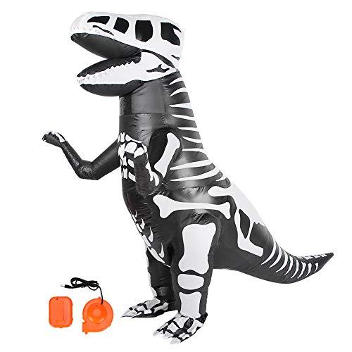 Qinlorgo Fantasia inflável, formato único, à prova d'água, decoração de Halloween, leve para crianças adultas (X118)