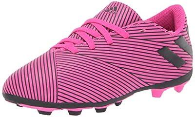 adidas Unisex-Kid's Nemeziz 19.4 Firm Ground Soccer Shoe, Shock Pink/Black/Shock Pink, 3.5 M US Big Kid