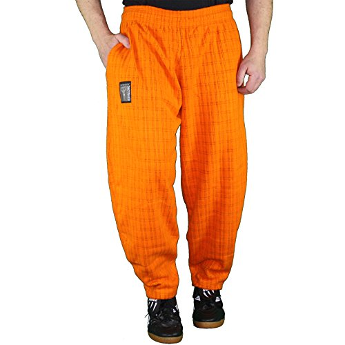 MORDEX Hose Fleece fürs Gym, Fitness, Sport und Freizeit in versch. Farben (Orange, XL)