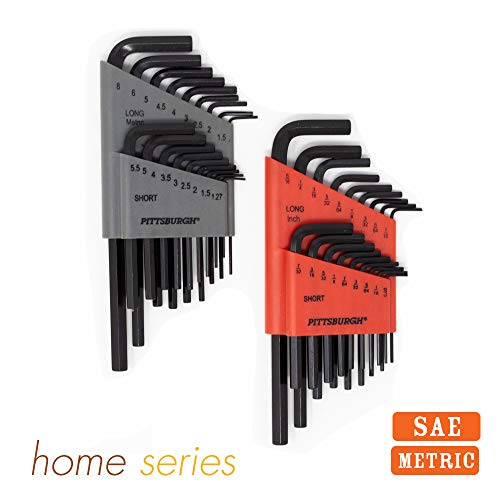 Allen Wrench - Hex Key (HUGE SET OF 36 WRENCHES WITH BALL END) Metric & SAE Sizes in Both Long & Short Arm