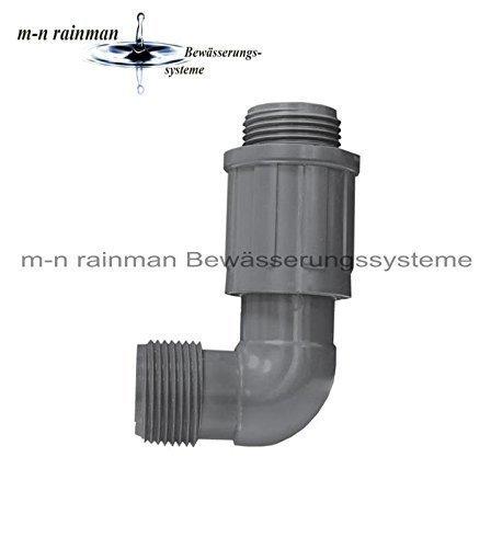 """PVC-Verschraubung/Verteiler Rain Bird Winkel: 1"""" Außengewinde x 1"""" Außengewinde"""