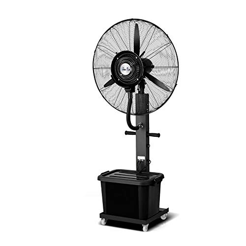 Ventilatoren MEIDUO Kühlen Industrielle Sprühnebel-Fan-Fabrik, die atomisierenden Luftbefeuchter 260W / 350W / oszillierend / 3 Geschwindigkeiten stäubt (Size : 65CM(260W))
