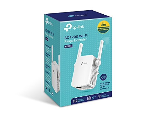 TP-Link RE305 AC1200 WLAN Repeater (Dual WLAN AC+N, 1167 Mbit/s, App Steuerung, 1 Port, 2X Flexible Externe Antennen) weiß & Archer C50 Dualband WLAN Router (300 Mbit/s (2,4GHz + 867Mbit/s) weiß
