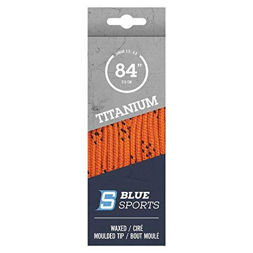 BLUE SPORTS Titanium Pro Schnürsenkel gewachst Bändel Lacey Hockey Eishockey Skaterhockey (orange 120