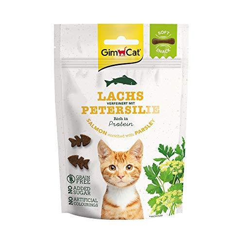 GimCat Soft Snacks - Weiches und proteinreiches Katzenleckerli ohne Zuckerzusatz - 1 Beutel (1 x 60 g)