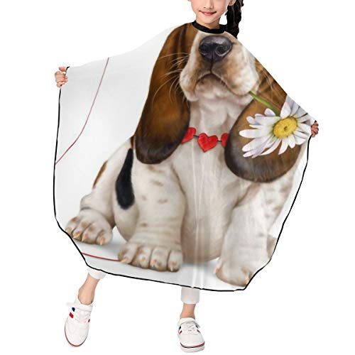 Children Basset Hound Dog Hot Cute Baber Cape Haircut Apron Hair Cut Cape,39