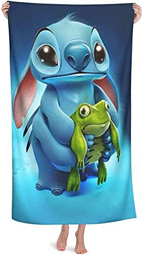 Proxiceen Stitch - Toalla de playa de Disney Anime Stitch con dibujos animados (A3,70 x 140 cm)