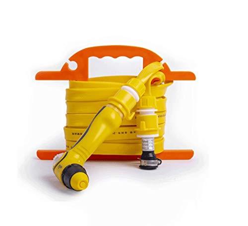 Telescopische waterpijp in de winter tuinslang, bergrack, spuitpistool, gemakkelijk op te slaan, geschikt voor autowassen, watergeven, tuin, gele thuistuin waterpistool