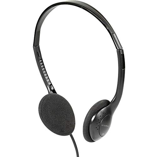Vivanco TV Comfort 40 Ohraufliegend Kopfband Schwarz - Kopfhörer (Ohraufliegend, Kopfband, Verkabelt, 20 - 20000 Hz, 5 m, Schwarz)