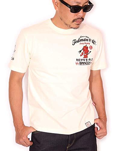 (テッドマン) TEDMAN カミナリ コラボ 2000GT 半袖Tシャツ TDKMT-11 オフホワイト 限定解除2(XXL)