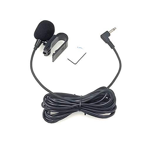 ZJ025MR Palo en el Clip del micrófono de Solapa Mono for el Coche GPS/Bluetooth Activado Audio DVD micrófono Externo, la Longitud del Cable: 3m, Codo de 90 Grados de 3,5 m
