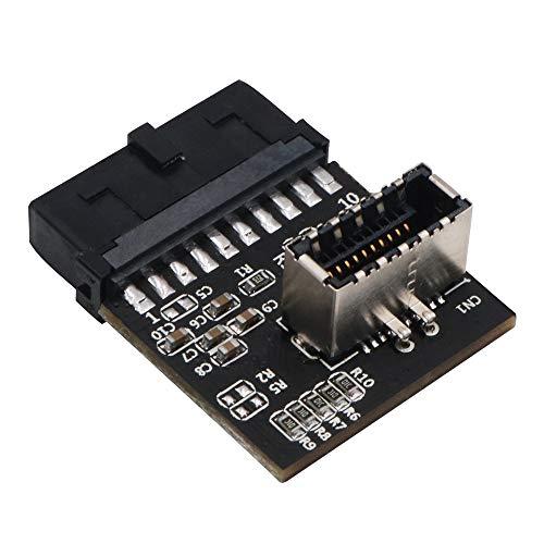 USB 3.0 (3.1 Gen 2) interner schwarzer IDC 20-poliger Motherboard-Header auf A-Key 20-polige Buchsenleiste, aktiver Konverter für Typ C Panel-Mount-Adapter
