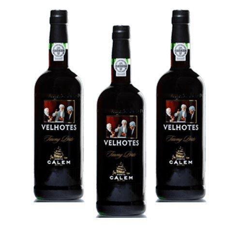Vino de Oporto Calem Velhotes Tawny - Vino Fortificado- 3 Botellas