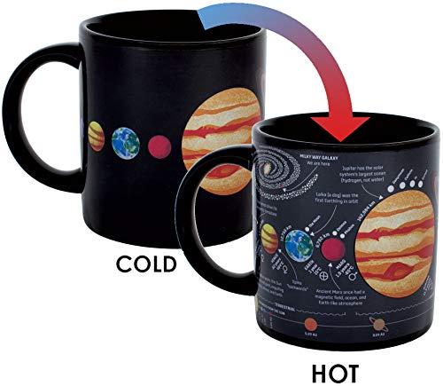 Wärmewechselende Planet-Tasse - fügen Sie Kaffee oder Tee hinzu und das Sonnensystem erscheint - in einer lustigen Geschenkbox