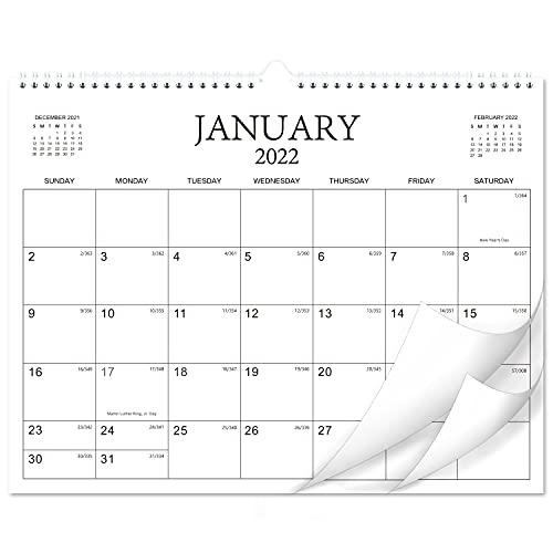 """2022 Calendar - 18 Months Wall Calendar Planner from Jan 2022 - Jun 2023, 14.6""""× 11.4"""", Twin-Wire Binding, Premium Paper, Blank Block with Julian Dates"""