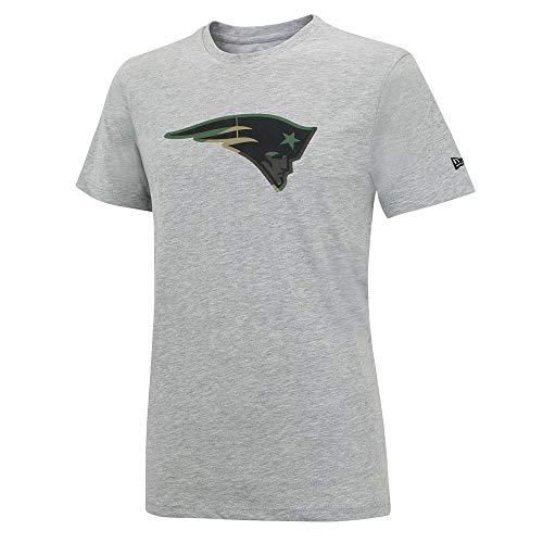 New Era NFL NEW ENGLAND PATRIOTS Camo Logo T-Shirt Tee -Gray-, Größe:XXL