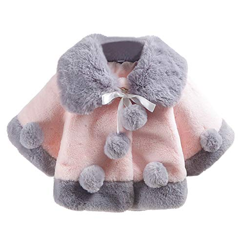 Baby Toddlers Girls Winter Cape Coa…